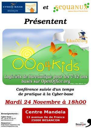 Affiche conférence Ooo4Kids